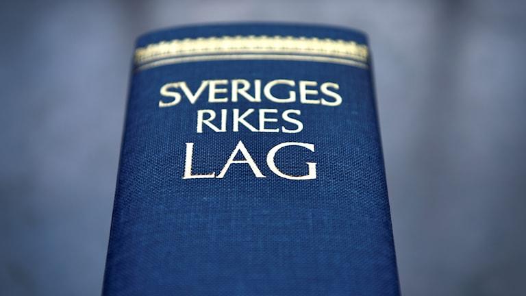 En lagbok. Foto: Anders Wiklund/TT.