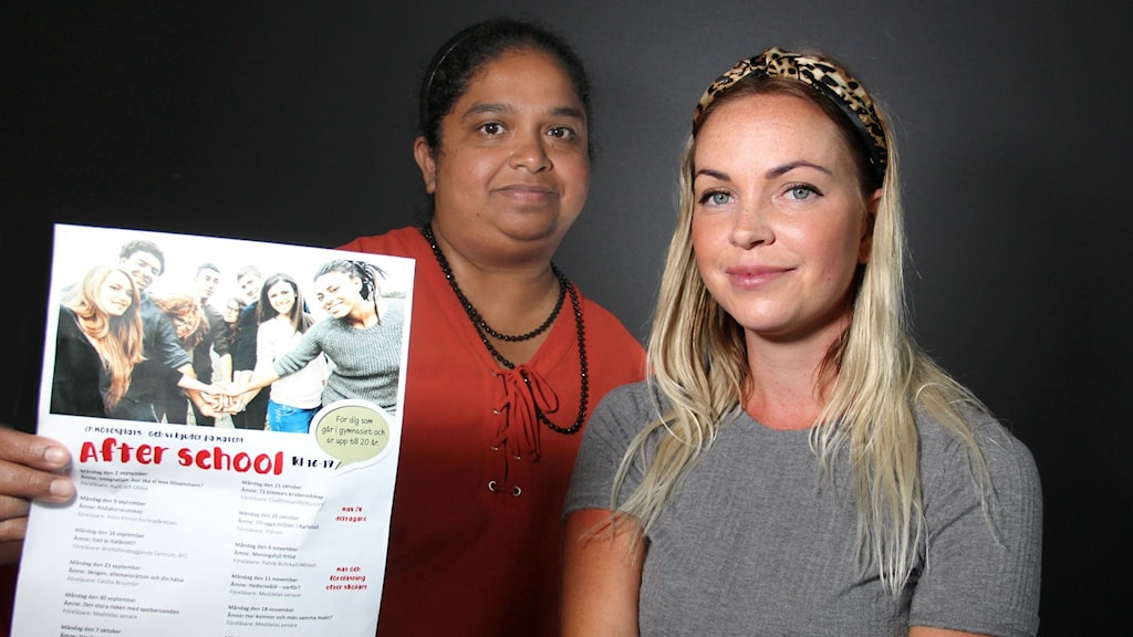 Rani Thayaparan och Olivia Mortensen. Foto: Lars-Gunnar Olsson/Sveriges Radio.