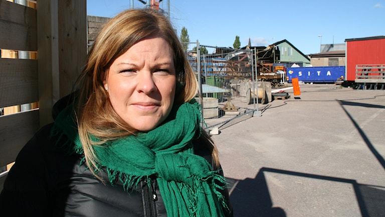 Maria Frisk (MP). Foto: Magnus Hermansson/Sveriges Radio.