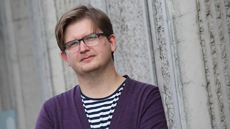 Klas Hällerstrand, chef på Kristinehamns konstmuseum. Foto: Lars-Gunnar Olsson/Sveriges Radio.
