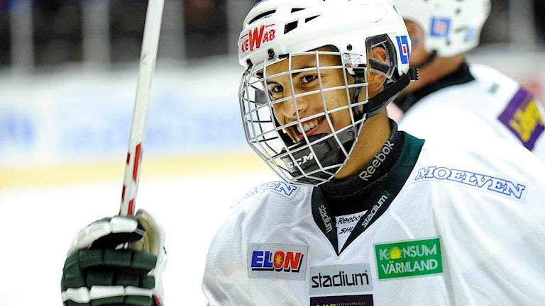 Oliver Kylington i Färjestad. Foto: Håkan Nordström/Scanpix.