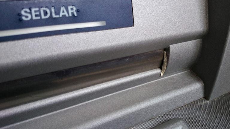 Manipulerad bankomat i Torsby. Foto: Lennart Nordenstein.