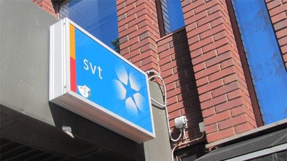 Entrén till SVT i Karlstad. Foto: Isak Olsson/Sveriges Radio.
