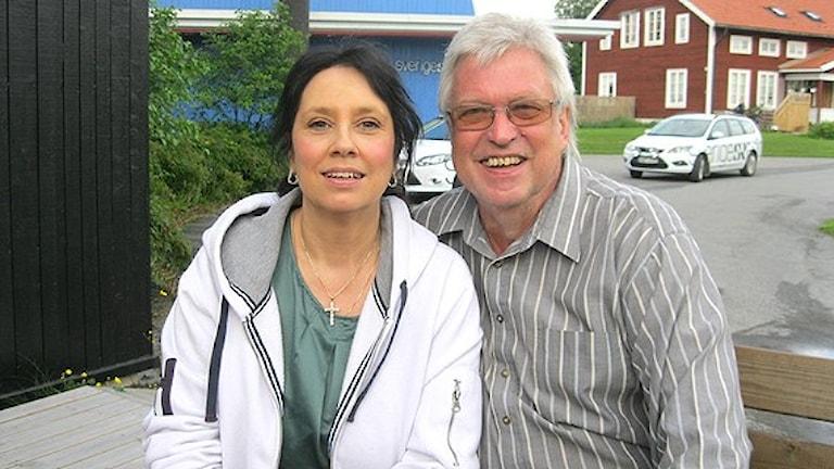 Ann-Cathrine Wiklander och Erik Lihm tog sig rakt in på förstaplatsen. Foto: Stefan Hanberg/Sveriges Radio