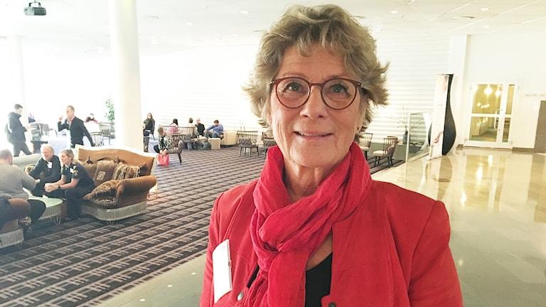 Inga-Lena Nilsson, Röda korset Värmland. Foto: Sara Johansson/Sveriges Radio.