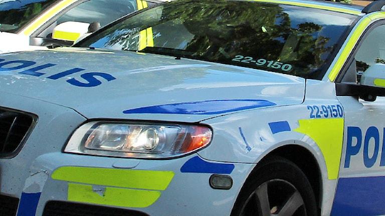 Polisbil. Foto: Lars-Gunnar Olsson/Sveriges Radio.
