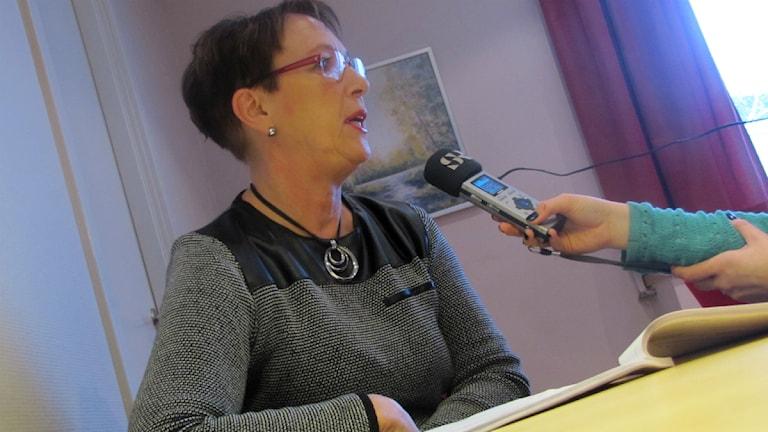 Ann-Katrin Järåsen, socialdemokratiskt kommunalråd i Torsby. Foto: Kristian Erskog, Sveriges Radio.