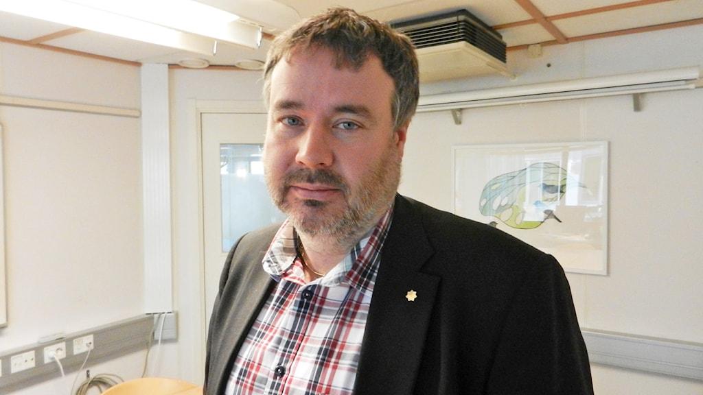 Tobias Kjellberg. Foto: Roy Malmborg/Sveriges Radio.