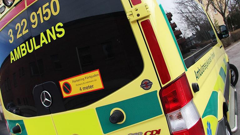 En ambulans. Foto: Lars-Gunnar Olsson/Sveriges Radio.