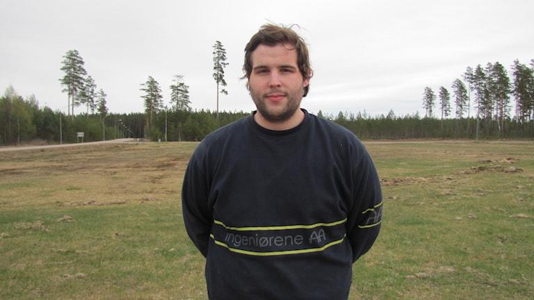 Patrik Hellström är Moderaternas enda kandidat i Munkfors. Foto: Lisa Linder Lindberg / Sveriges Radio.
