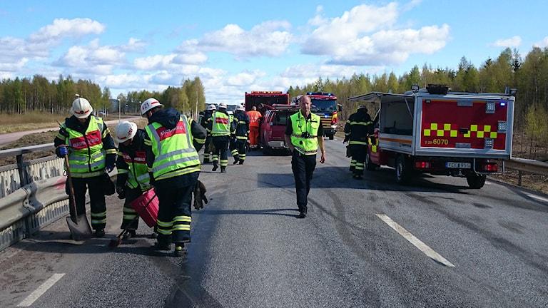 Olycksplats. Foto: Lennart Nordenstein/Sveriges Radio.