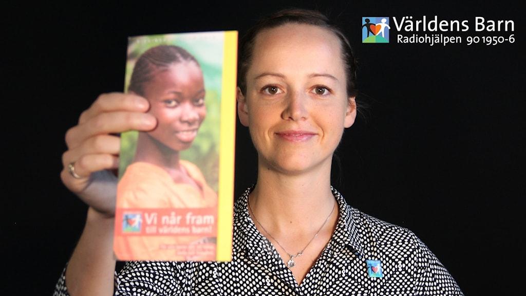 Eva Salomonsson, samordnare för Världens barn i Värmland. Foto: Lars-Gunnar Olsson/Sveriges Radio.