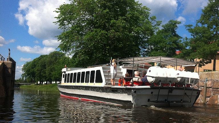 En båtbuss i Karlstad. Foto: Anna Lingsell/Sveriges Radio.