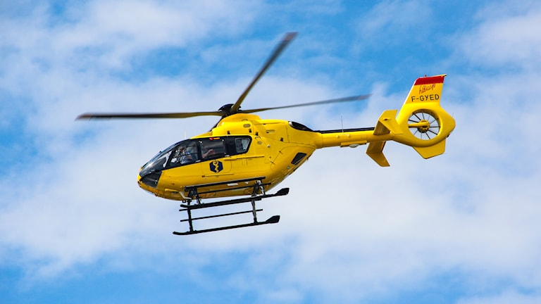 Ambulanshelikopter. Foto:Isak Olsson/P4 Värmland