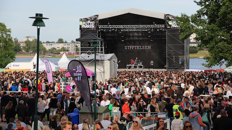 Vy över Mariebergsskogen under Putte i Parken 2014. Foto: Lars-Gunnar Olsson/Sveriges Radio.