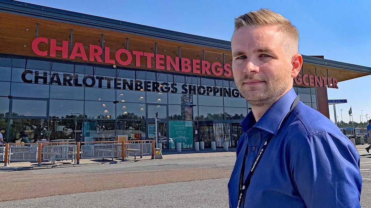 Claes Sjöholm centrumchef Charlottenbergs köpcentrum. Foto: Jonas Berglund/Sveriges Radio