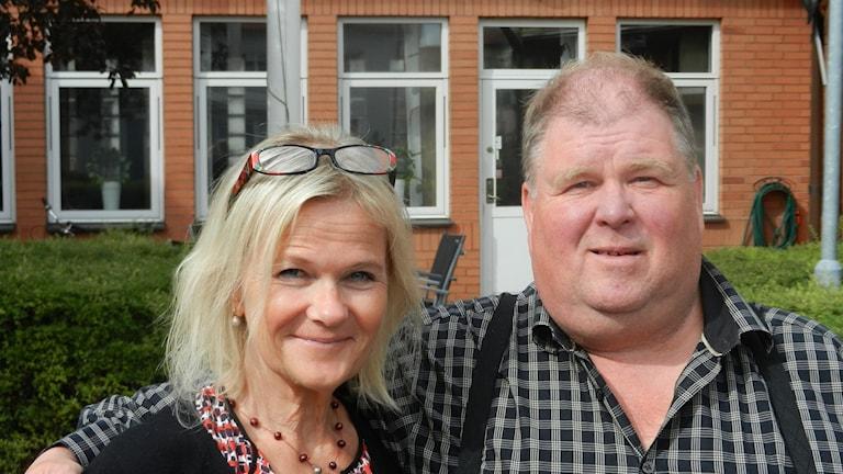 Sissela Kyle och Kjell-Åke i Myra. Foto: Sveriges Radio.
