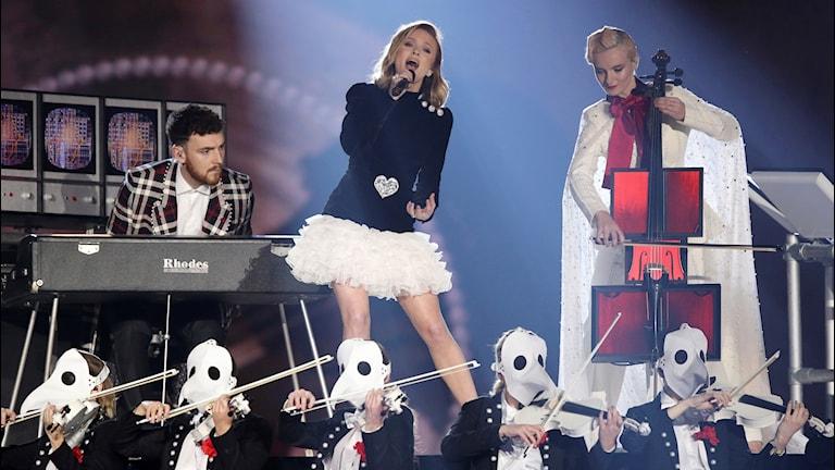 Zara Larsson på MTV Europe awards 2017.