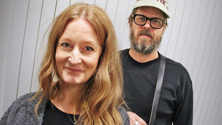 Anna Stadling och Pecka Hammarstedt. Foto: Lars-Gunnar Olsson/Sveriges Radio.
