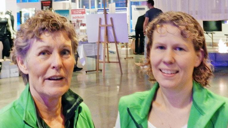 Karin Granström och Marie Larsson. . Foto: Sven Westerdahl/Sveriges Radio.