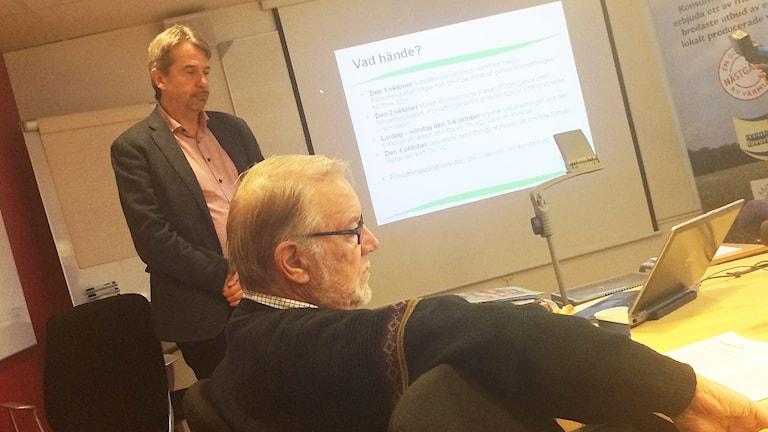 Klas Olsson och Gunnar Törnqvist. Foto: Lisa Linder Lindberg/Sveriges Radio.