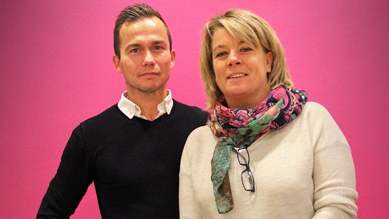 Mikael Carlsson och Karin Vangstad. Foto: Lars-Gunnar Olsson/Sveriges Radio.