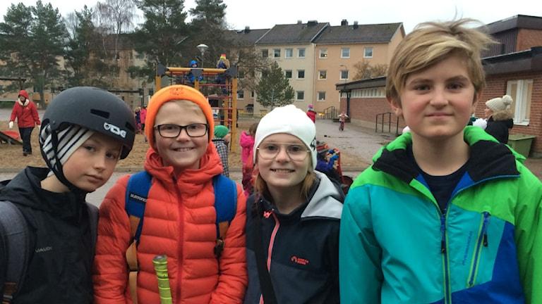 Måns-Perra Österling Junkergård, Joycéline Jansdotter, Elias Borstner och Movitz Lendrup Arnstad Reporter: Mari Stenström/Sveriges radio