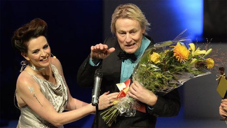 Amanda Ooms och Lars Lerin. Foto: TT