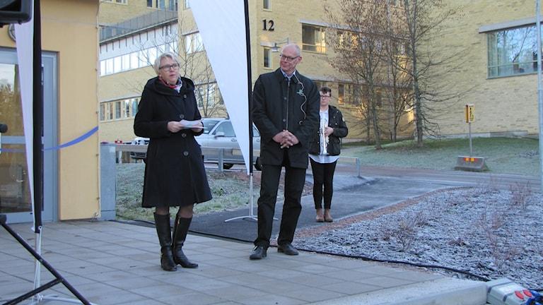 Birgitta Hohlfält van Dalen och Per Löveryd. Foto: Carol Atallah/Sveriges Radio.