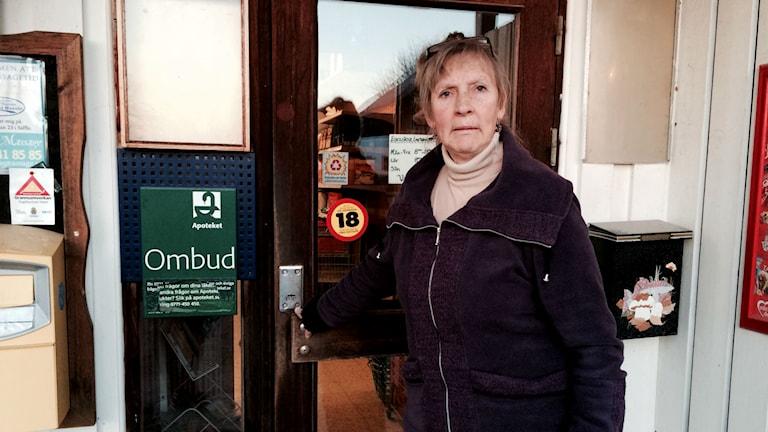 Eva Karlsson sista lanthandlaren på Värmlandsnäs.