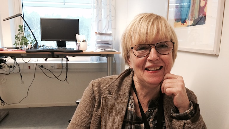 Eva Nilsson, samordningsbarnmorska i Värmland. Foto: Jenny Tibblin, Sveriges Radio P4 Värmland
