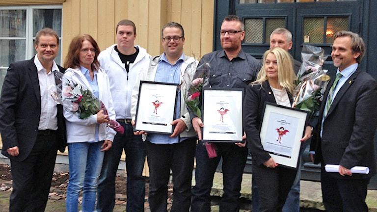 2014 års vinnare av Karlstad kommuns pris för Vardagshjältar. Foto: Emilie Pless/Sveriges Radio.