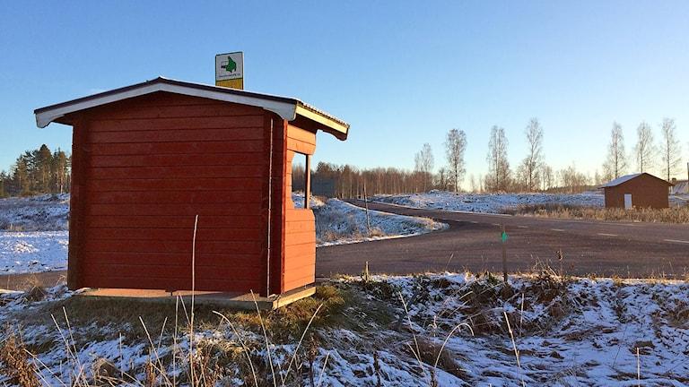 En busshållsplats. Foto: Annika Ström/Sveriges Radio.