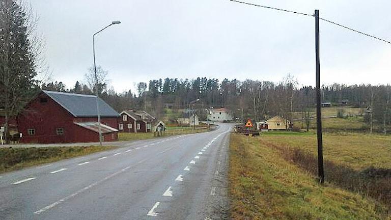 En vägsträcka i Fölsbyn. Foto: Tommy Emanuelsson.