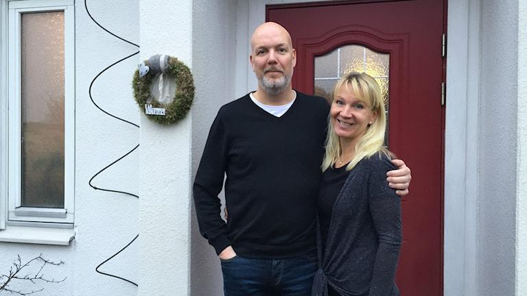 Jörgen Andersson och Pernilla Löfkvist ska lämna Kroppkärr för Blombacka. Foto: Ann Edliden/Sveriges Radio.