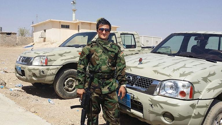 25-åriga Valentino från Säffle stred mot IS i den kurdiska armén. Foto: Privat.