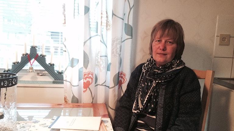 Eva Stolt sjuk i MS i Arvika. Foto: Jenny Tibblin, Sveriges Radio.