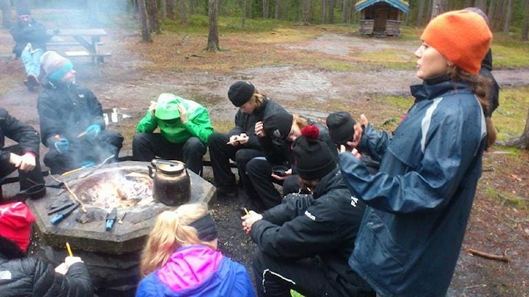 Skolan i skogen. Foto: Bengt Höglind/ SR Värmland