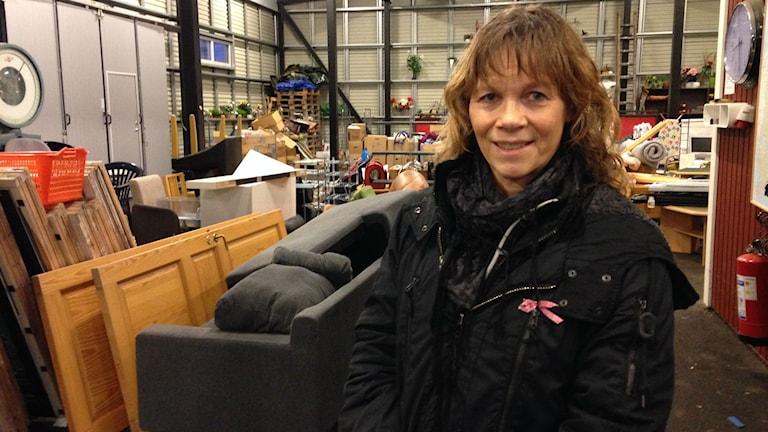 Karin Vogt på återvinningscentral