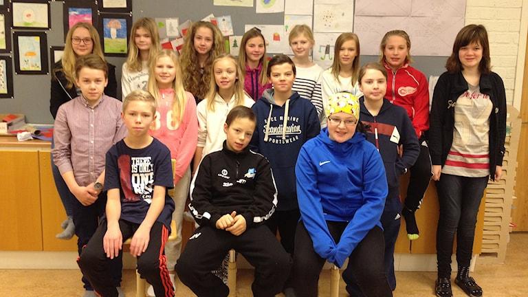 Mörmoskolan klass 5A. Foto: Privat.