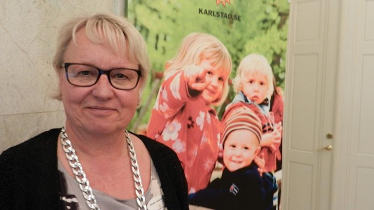 Kerstin Andersson chef på Karlstads kommuns barn och ungdomsförvaltning. Foto Roy Malmborg Sveriges Radio