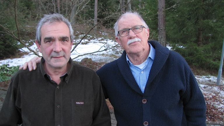 Filip Gille och Björn Hörgren. Foto: Magnus Hermansson/Sveriges Radio.