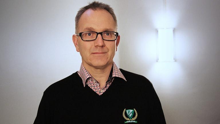 Stefan Larsson, vd för Färjestad. Foto: Lars-Gunnar Olsson/Sveriges Radio.