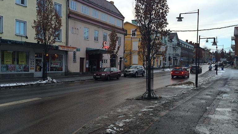 I centrala Säffle längs gågatan träffade vi flera personer som har erfarenheter av drogmissbruk. Foto: Lisa Linder Lindberg / Sveriges Radio