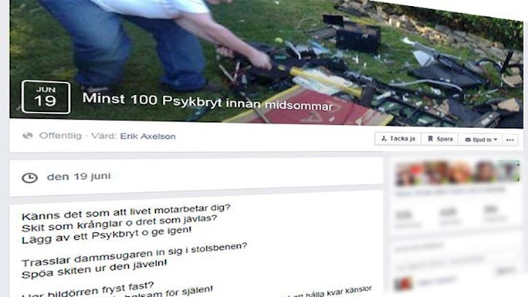 En skärmdump av en facebooksida.