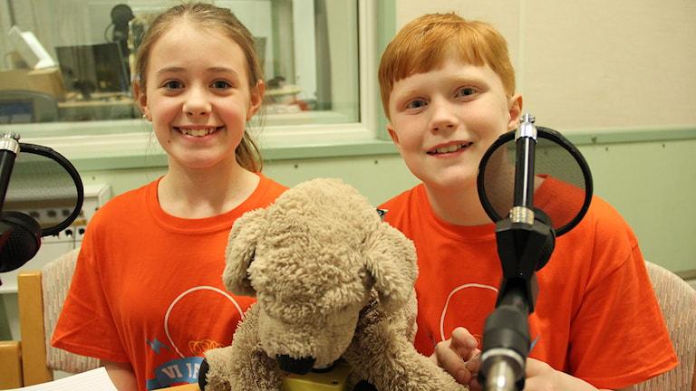 Ida Lybeck och Malcom Nunthe-Kaas. Foto: Lars-Gunnar Olsson/Sveriges Radio.