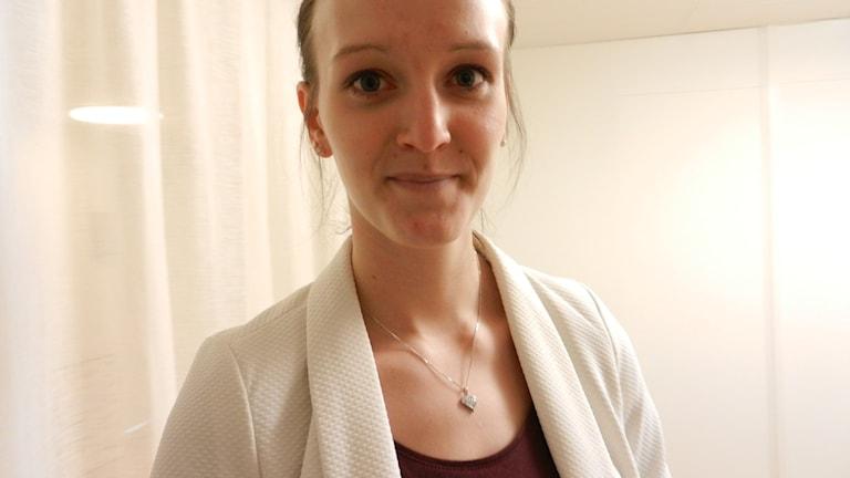 Nathalie Pavlović , utvecklingsledare för mottagningsprojektet i Värmland. Foto : Roy Malmborg Sveriges Radio