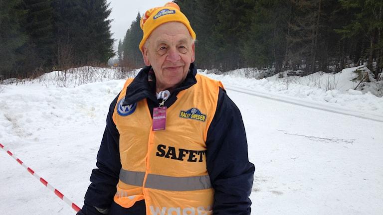 Rallyveteranen Willy Jansson. Foto: Robert Ojala/Sveriges Radio.