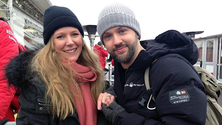 Camilla och Samuel. Foto: Johanna Skoglund/Sveriges Radio.
