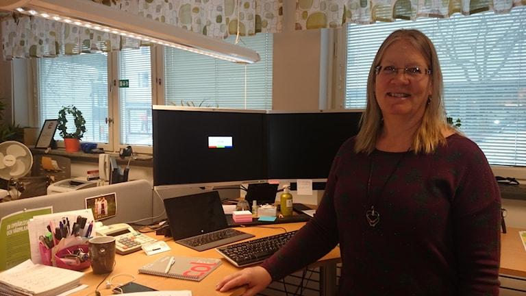 Cecilia Sjödén. Bredbandssamordnare i Torsby kommun. Foto: Lennart Nordenstein.
